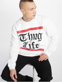 Thug Life Pullover B.Gothic white