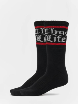 Thug Life Socks Bo double black