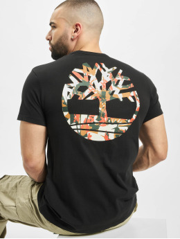 Timberland T-Shirt B-Logo Camo black