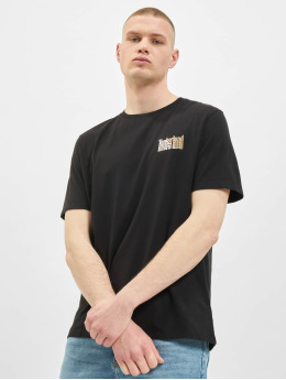 Timberland T-Shirt Stacked  black