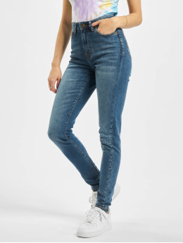 Urban Classics High Waisted Jeans Ladies Skinny High Waist blue