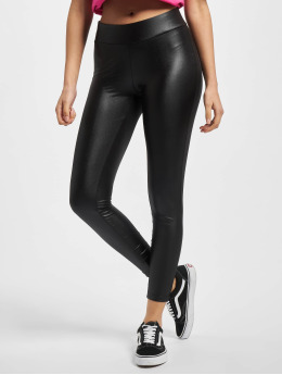 Urban Classics Leggings/Treggings Ladies Imitation Leather black