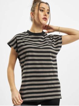 Urban Classics T-Shirt Ladies Y/D Stripe Tee gray