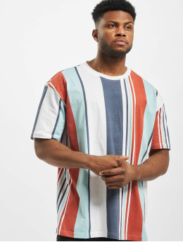 Urban Classics T-Shirt Heavy Oversized Big All Over Print Stripe red