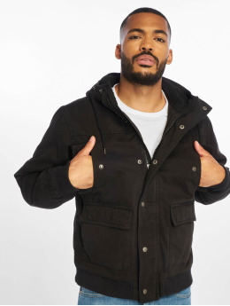 Urban Classics Winter Jacket Hooded Cotton black