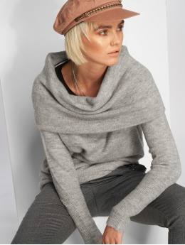 Vero Moda Pullover vmAgoura Off Shoulder gray