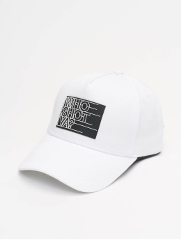 Who Shot Ya? Fitted Cap Sling Daddy  white
