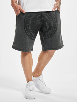 Yakuza Short Screaming Skull gray
