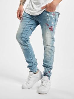 Yakuza Straight Fit Jeans Shard  blue
