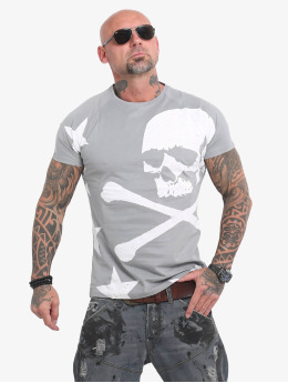 Yakuza T-Shirt Overskulled gray