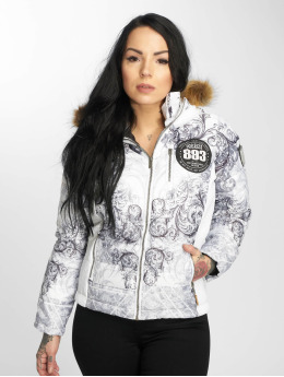 Yakuza Winter Jacket Ornamental Skull white