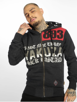 Yakuza Zip Hoodie Bastard Two Face black