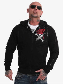 Yakuza Zip Hoodie No Mercy No Regret black