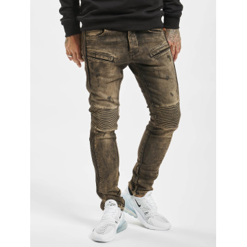 2Y Skinny Jeans Quilted brown