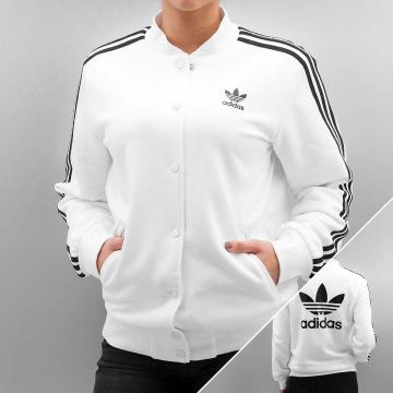 adidas Bomber jacket 3 Stripes white