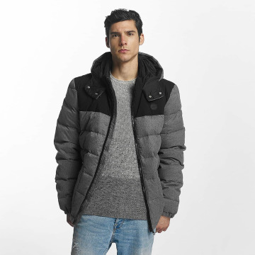 Bench Lightweight Jacket Wool Look Down gray