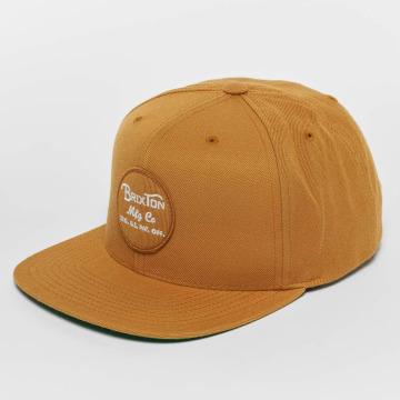Brixton Snapback Cap Wheeler brown