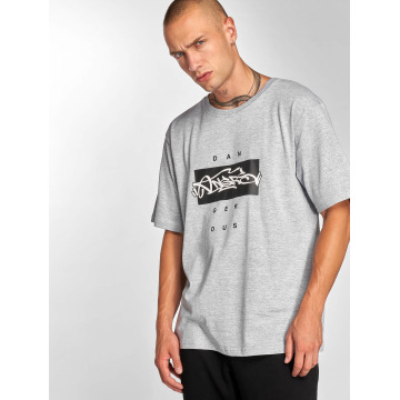 Dangerous DNGRS T-Shirt  Topping T-Shirt Grey Mel...