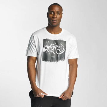 Dangerous DNGRS T-Shirt From The Streets Throw Up white
