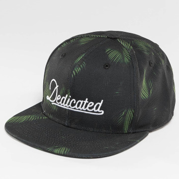 DEDICATED Snapback Cap Dark Leaves black