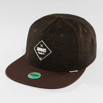 Djinns Snapback Cap 5 Panel Fel Rubber brown