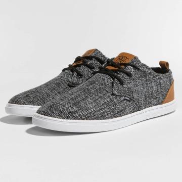 Djinns Sneakers Low Lau Colored Linen black