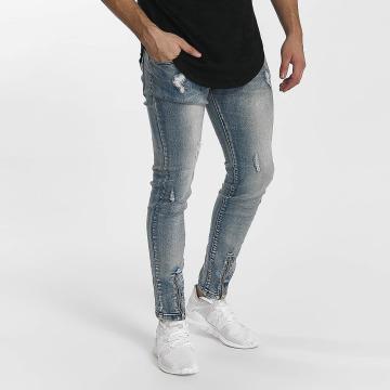 John H Slim Fit Jeans Destroyed blue