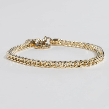 KING ICE Bracelet Gold_Plated 4mm Franco gold