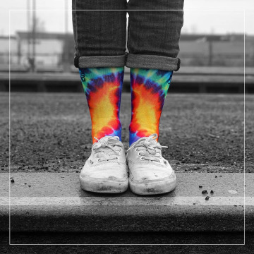 LUF SOX Socks Peace colored