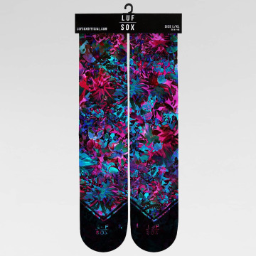 LUF SOX Socks Classics Coral Flower colored