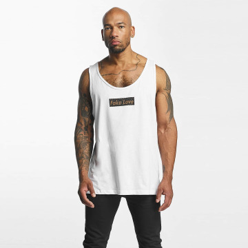 Mister Tee Tank Tops Fake Love white