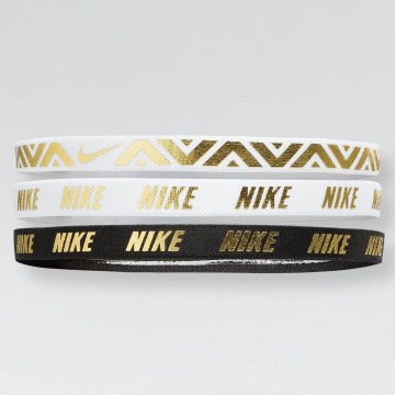 Nike Performance Sweat Band Metallic 3 Pack white