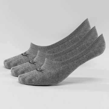 Nike Socks 3-Pack Footie gray