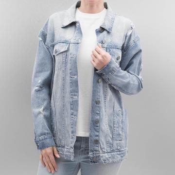 Noisy May Lightweight Jacket nmOli Loose Embroidery blue