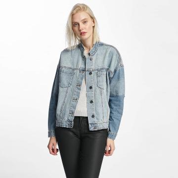 Noisy May Lightweight Jacket nmDash Back Print Denim blue