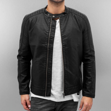 Only & Sons Leather Jacket onsJames black
