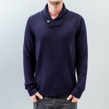 Selected Pullover Chip blue