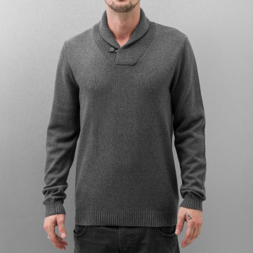 Selected Pullover Chip Shawl gray