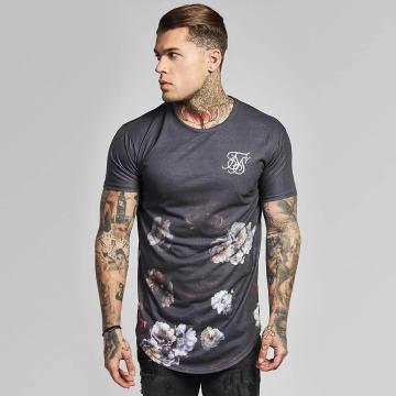 Sik Silk T-Shirt Curved Hem fade gray