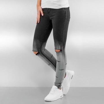 Sixth June Skinny Jeans Washed Destroyed black