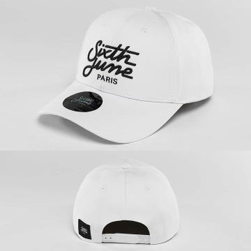 Sixth June Snapback Cap Curved Logo white