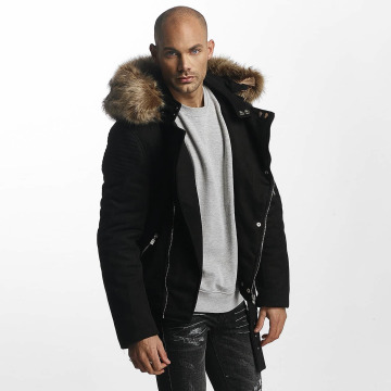 Sixth June Winter Jacket Puffa Perfecto With Biker Yoke black