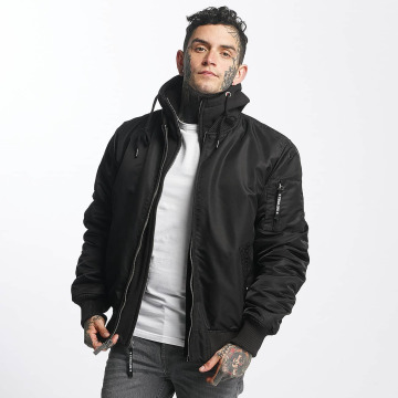 Thug Life Lightweight Jacket Manchester Hooded black