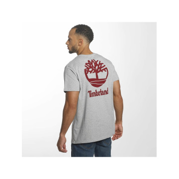 Timberland T-Shirt Stacked Logo gray