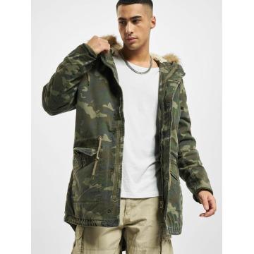 Urban Classics Coats Garment Washed Camo camouflage