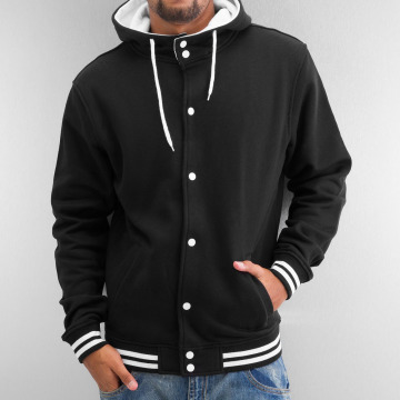 Urban Classics College Jacket Hooded College black