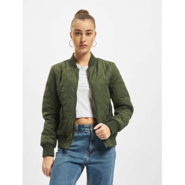 Urban Classics College Jacket Diamond Quilt Nylon olive