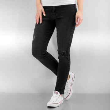 Urban Classics High Waisted Jeans Ladies High Waist black