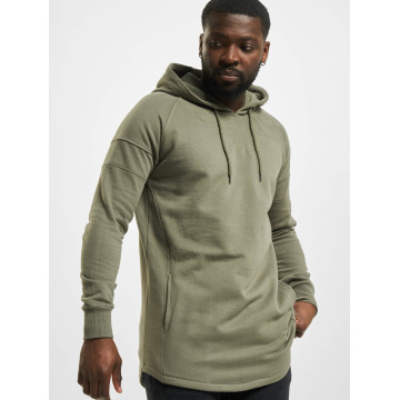 Urban Classics Hoodie Long Shaped olive