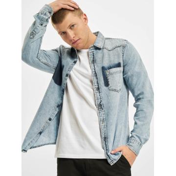 Urban Classics Shirt Denim Pocket blue